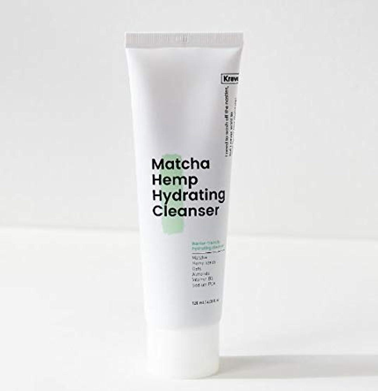 クルー餌特許[Krave] Matcha Hemp Hydrating Cleanser 120ml / 抹茶ハイドレイティングクレンザー120ml [並行輸入品]