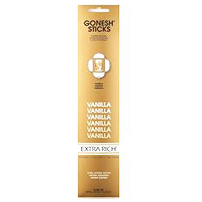 誕生日滅多神経衰弱Gonesh Incense Extra rich-バニラ( 20 Sticks in 1パック) 2208114