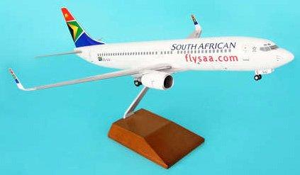 1: 100 スカイマークスSuprem South African 航空 ボーイング 737-800 with Landing Gear and Wood Stand (並行輸入)
