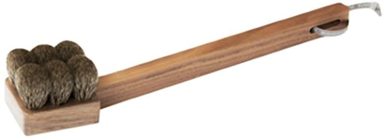 逸脱生き返らせる排気熊野筆 「SUVE」 ボディブラシ セミハード ロング BBL2