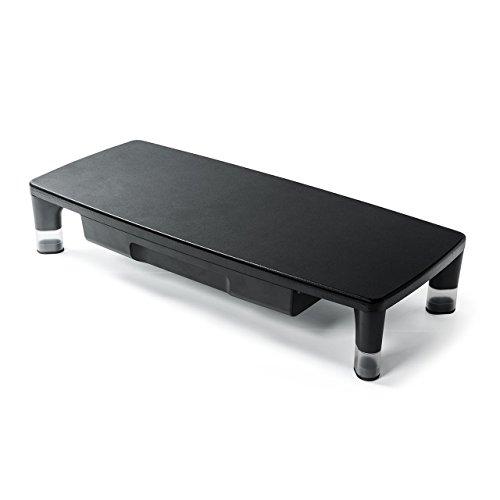 [해외]산와 다이렉트 탁상 대 액정 모니터 받침대 서랍 높이 조절 폭 55cm 내하 7kg 100-MR135/Sanwa Direct desktop table LCD monitor stand With drawer Height adjustment width 55 cm Load capacity 7 kg 100 - MR 135