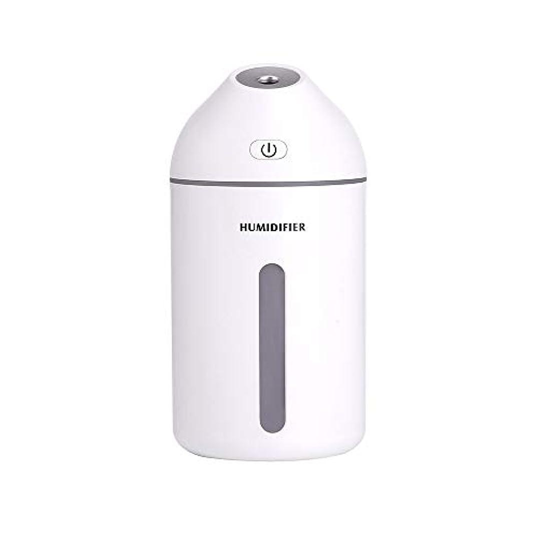 シュリンク先入観哲学的320mlのエッセンシャルオイルディフューザーの静かな加湿器ホーム、カーフレグランスディフューザー (Color : White, Size : 7.7×15.2)