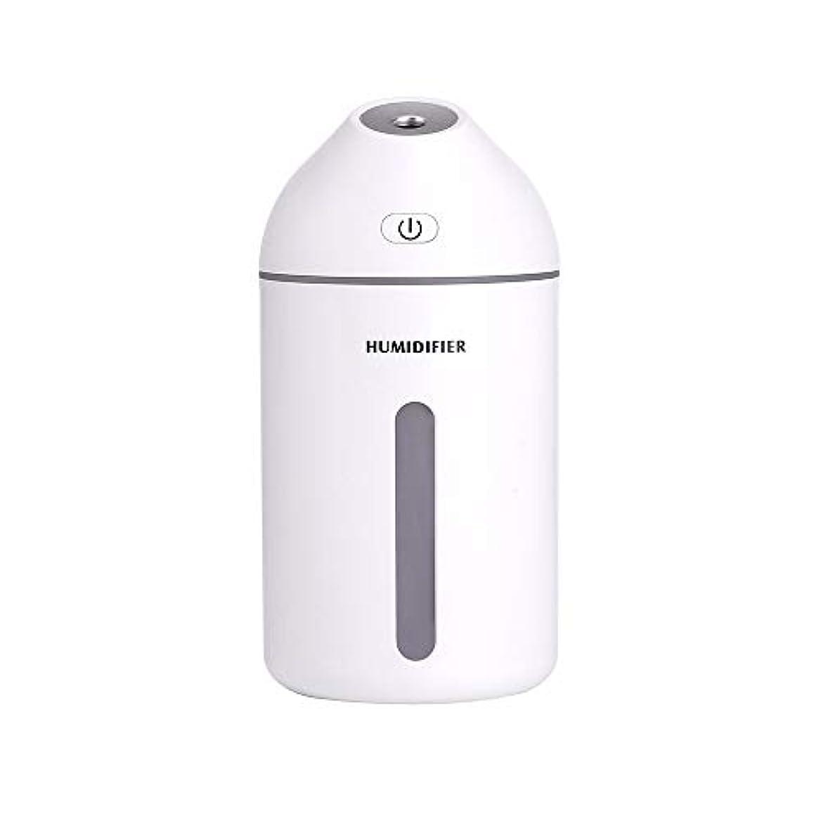 パット合わせて傾向320mlのエッセンシャルオイルディフューザーの静かな加湿器ホーム、カーフレグランスディフューザー (Color : White, Size : 7.7×15.2)
