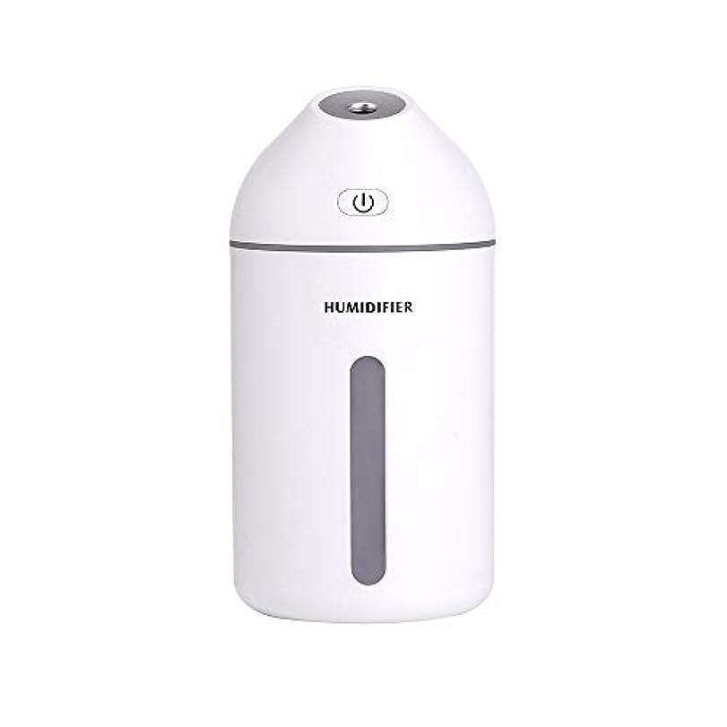 赤外線ビルダー変更可能320mlのエッセンシャルオイルディフューザーの静かな加湿器ホーム、カーフレグランスディフューザー (Color : White, Size : 7.7×15.2)