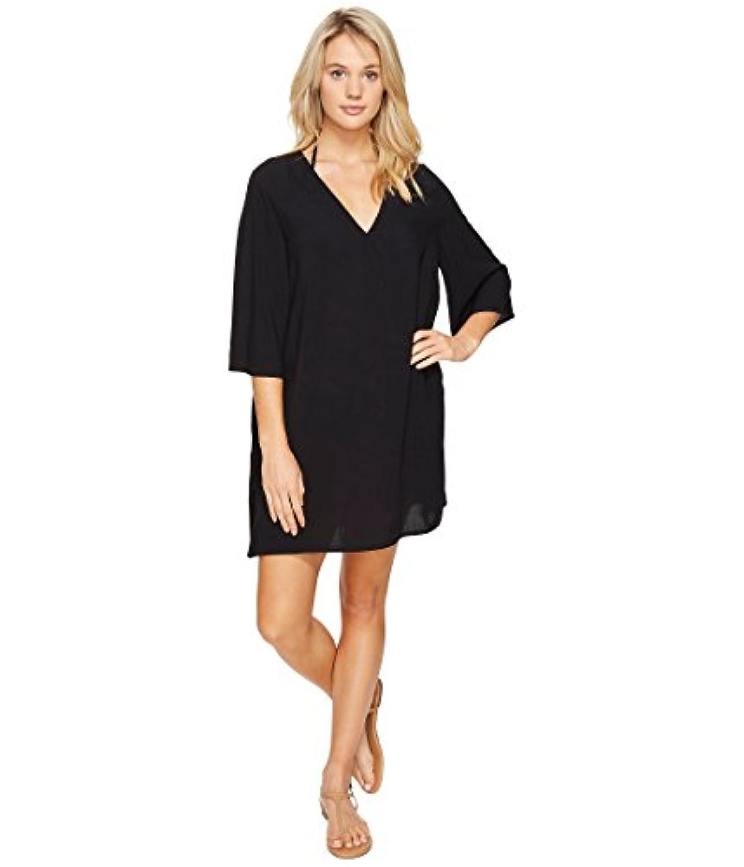 [ヴィンスカムート] Vince Camuto レディース Fiji Solids V-Neck Caftan Tunic Cover-Up ドレス Black SM [並行輸入品]