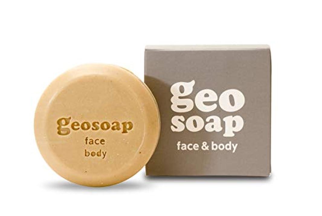 悲しむ待って過剰geosoap(ジオソープ) face&body(フェイス&ボディ) フェイス?ボディ 固形ソープ 117g