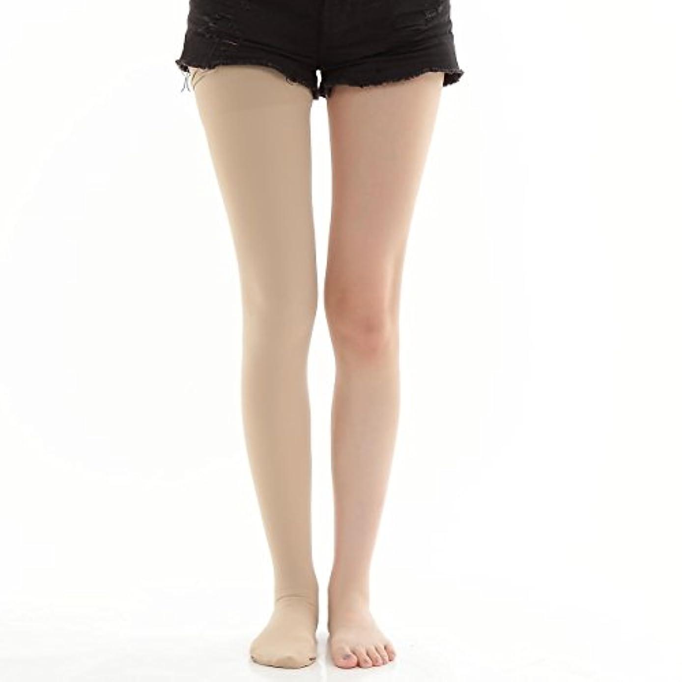 膿瘍梨無礼に着圧ストッキング ダイエット 医療用 簡単足やせ マイナス10キロ 美脚サポート (S, ベージュ)