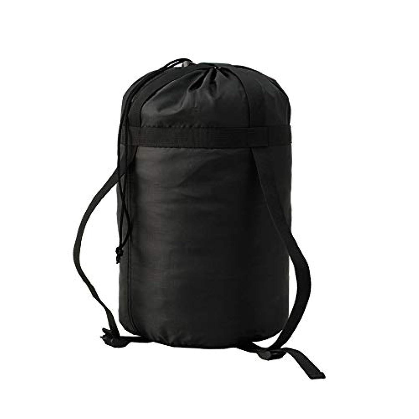 弱めるしっとりたぶん1コンプレッションバッグ 寝袋用 圧縮袋 ナイロン製 軽量 圧縮バッグ 耐摩耗 シュラフ防水 キャンプ アウトドア 衣類が収納可能 ブラック