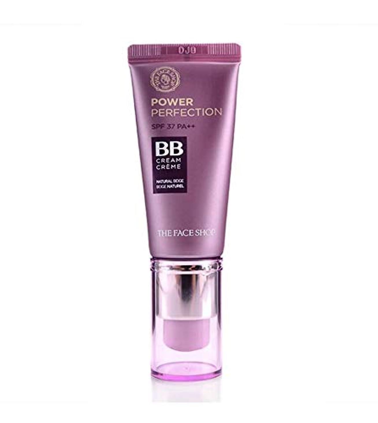 クルー聖書故障The Face ShopザフェイスショップパワーパーフェクションBBクリームSPF37 PA ++ 20g韓国の有名化粧品ブランドの人気BBクリーム紫外線防止効果シミ防止シワ防止水分補給