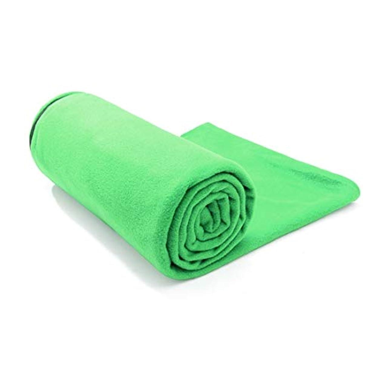 機械的にだます医薬品Koloeplf アウトドアランチブレイクダーティエンベロープタイプ両面フリースライナーフリース寝袋 (Color : Green)