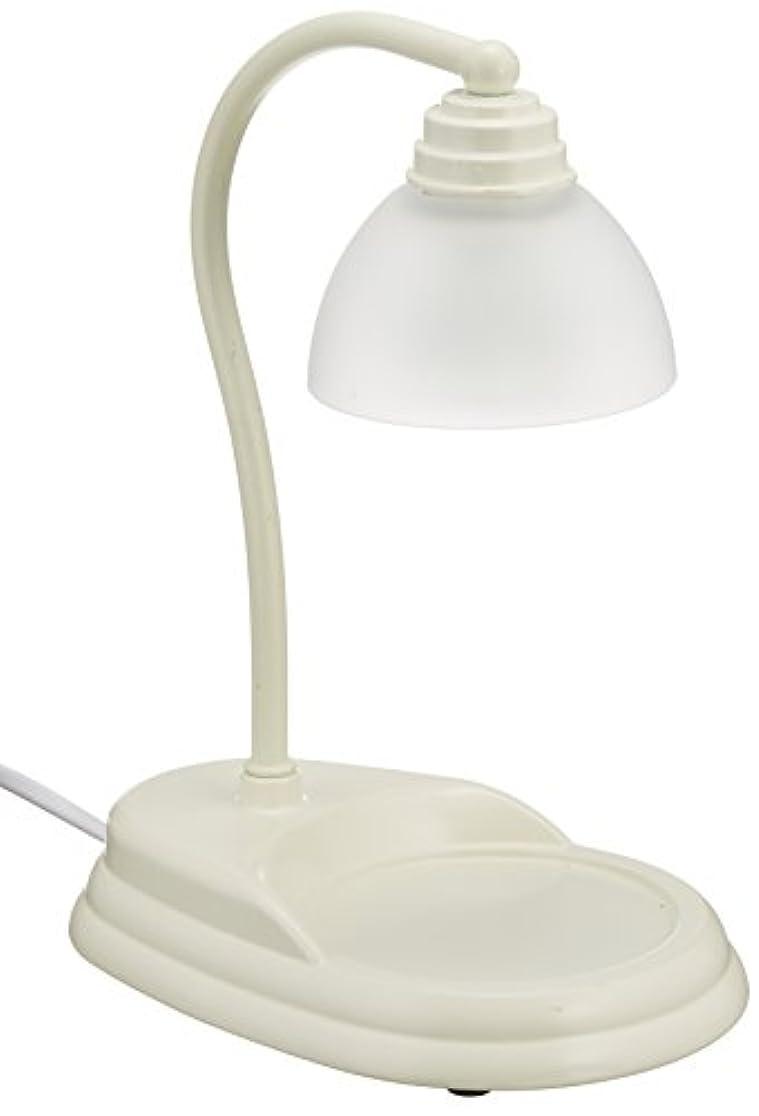 ワイヤーゴールデン聞く電球の熱でキャンドルを溶かして香りを楽しむ電気スタンド キャンドルウォーマーランプ (ホワイト)