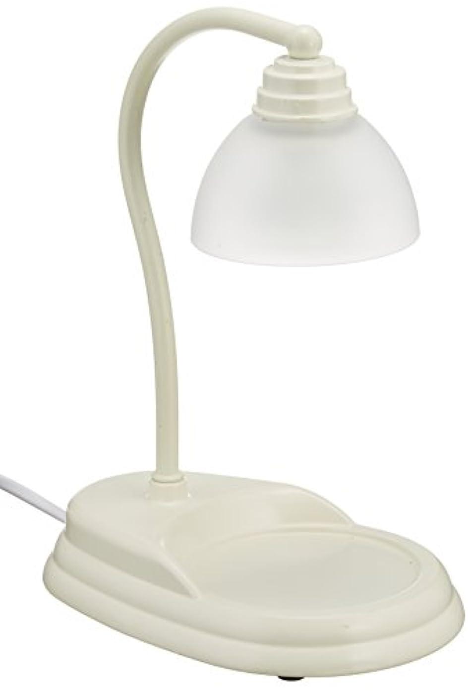 無視できる尽きる手がかり電球の熱でキャンドルを溶かして香りを楽しむ電気スタンド キャンドルウォーマーランプ (ホワイト)