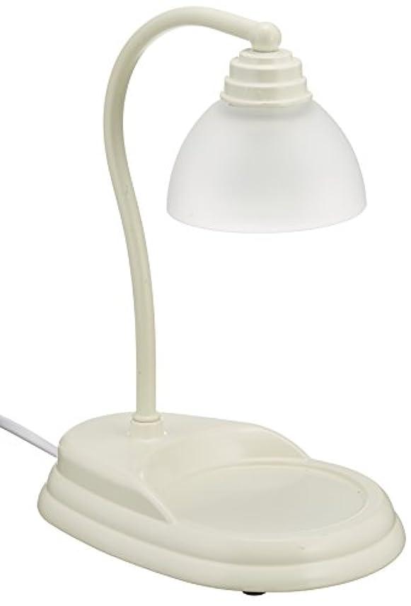 つぶやき過剰知的電球の熱でキャンドルを溶かして香りを楽しむ電気スタンド キャンドルウォーマーランプ (ホワイト)