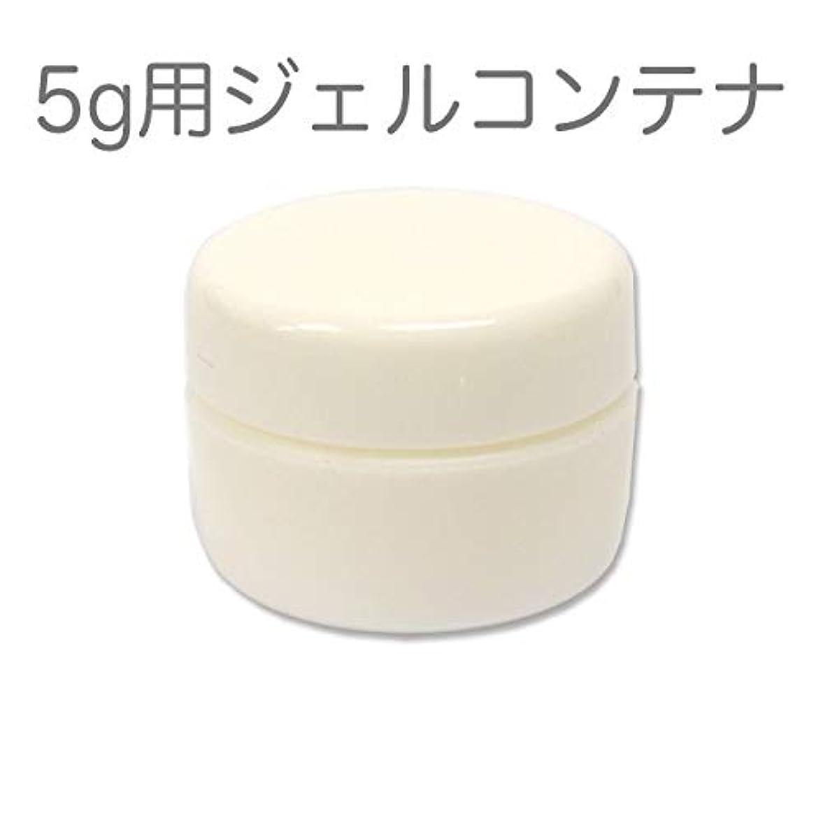 十分名目上のまっすぐ10個セット ジェルネイル用スペアコンテナ 容量5g ホワイト 蓋裏に漏れ防止パッキン付き