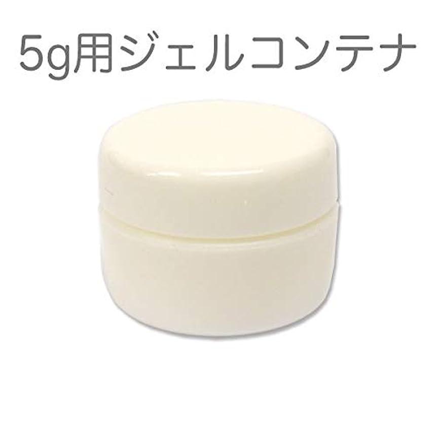 セットアップ清める有罪10個セット ジェルネイル用スペアコンテナ 容量5g ホワイト 蓋裏に漏れ防止パッキン付き