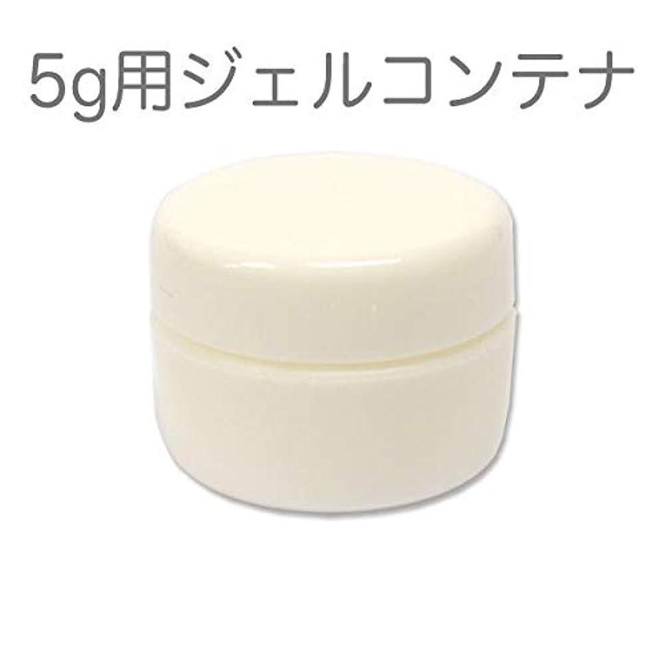 好色な成熟キャリア10個セット ジェルネイル用スペアコンテナ 容量5g ホワイト 蓋裏に漏れ防止パッキン付き