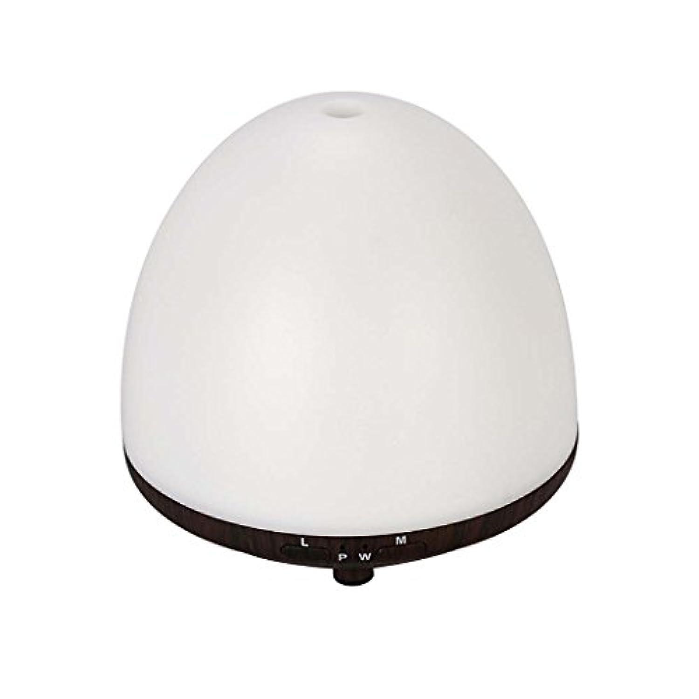 超音波ミュート加湿器エッセンシャルオイルディフューザー室内空気浄化LEDカラーナイトライト (色 : Light wood grain)