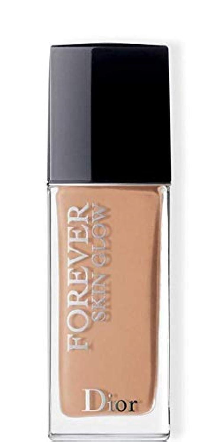 ボンドレンズさわやかクリスチャンディオール Dior Forever Skin Glow 24H Wear High Perfection Foundation SPF 35 - # 3WP (Warm Peach) 30ml/1oz並行輸入品