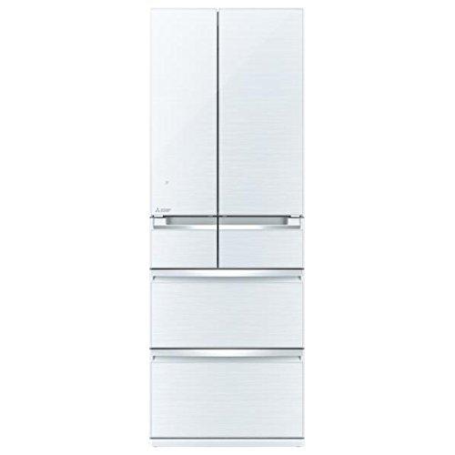 三菱 517L 6ドア冷蔵庫(クリスタルホワイト)MITSUB...