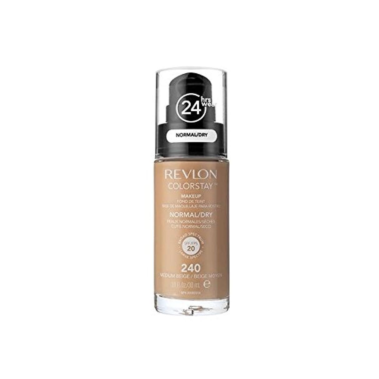 見分けるダウン開拓者Revlon Colorstay Foundation Normal Dry Skin Medium Beige (Pack of 6) - レブロンの基礎通常の乾燥肌メディアベージュ x6 [並行輸入品]