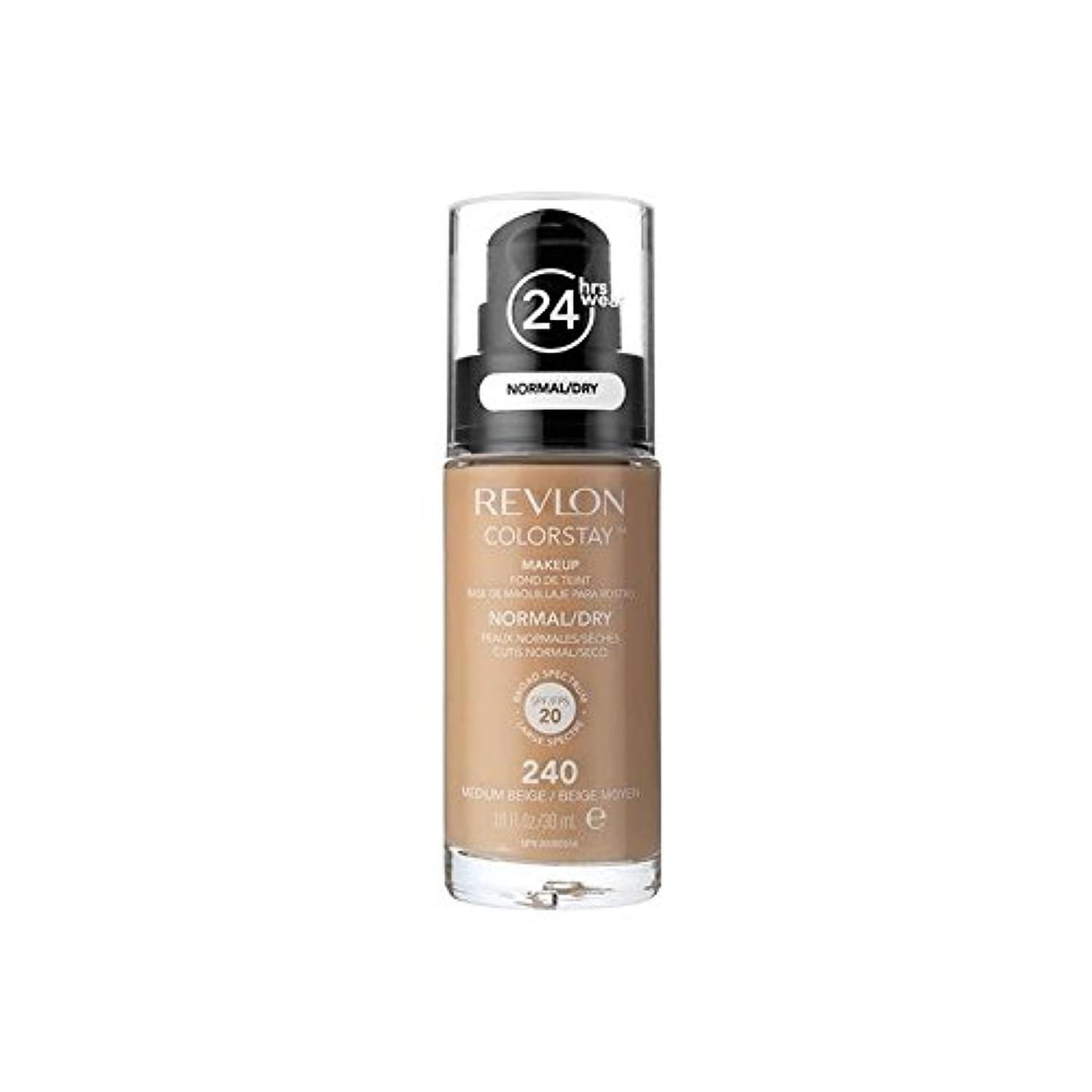 細断ポルティコなしでレブロンの基礎通常の乾燥肌メディアベージュ x4 - Revlon Colorstay Foundation Normal Dry Skin Medium Beige (Pack of 4) [並行輸入品]