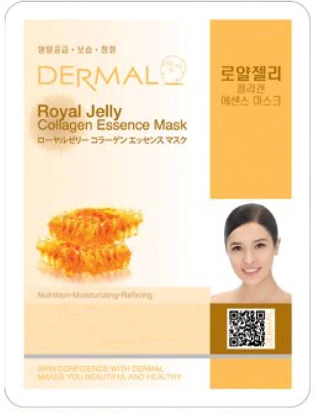 感染する期限切れプリーツシートマスク ローヤルゼリー 10枚セット ダーマル(Dermal) フェイス パック
