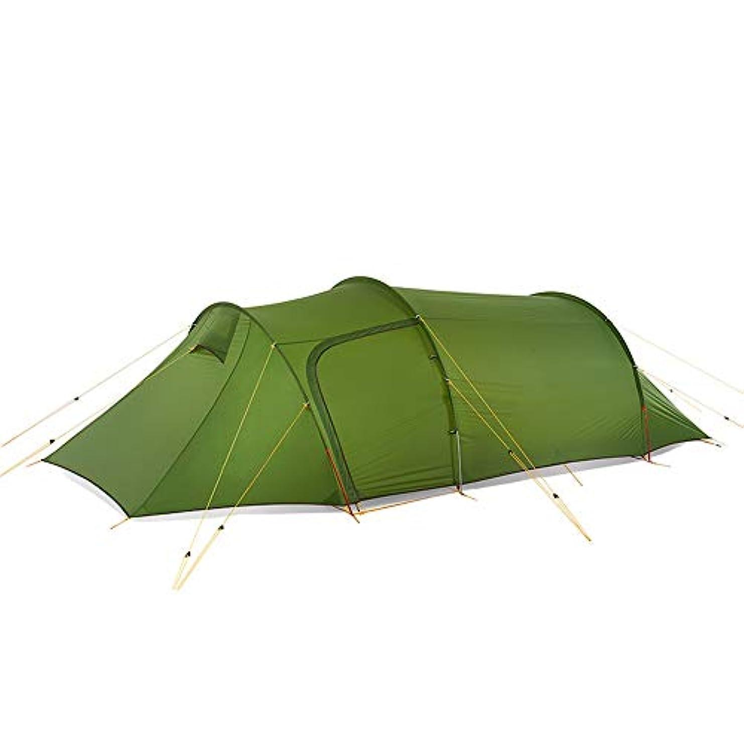 秀でる無条件こんにちはワンタッチテント登山用簡易テントキャンプポップアップUVカット通気性の高い防水防虫収納3?4人用ワンタッチテント (Color : グリーン(シリカゲル), Size : One Size)
