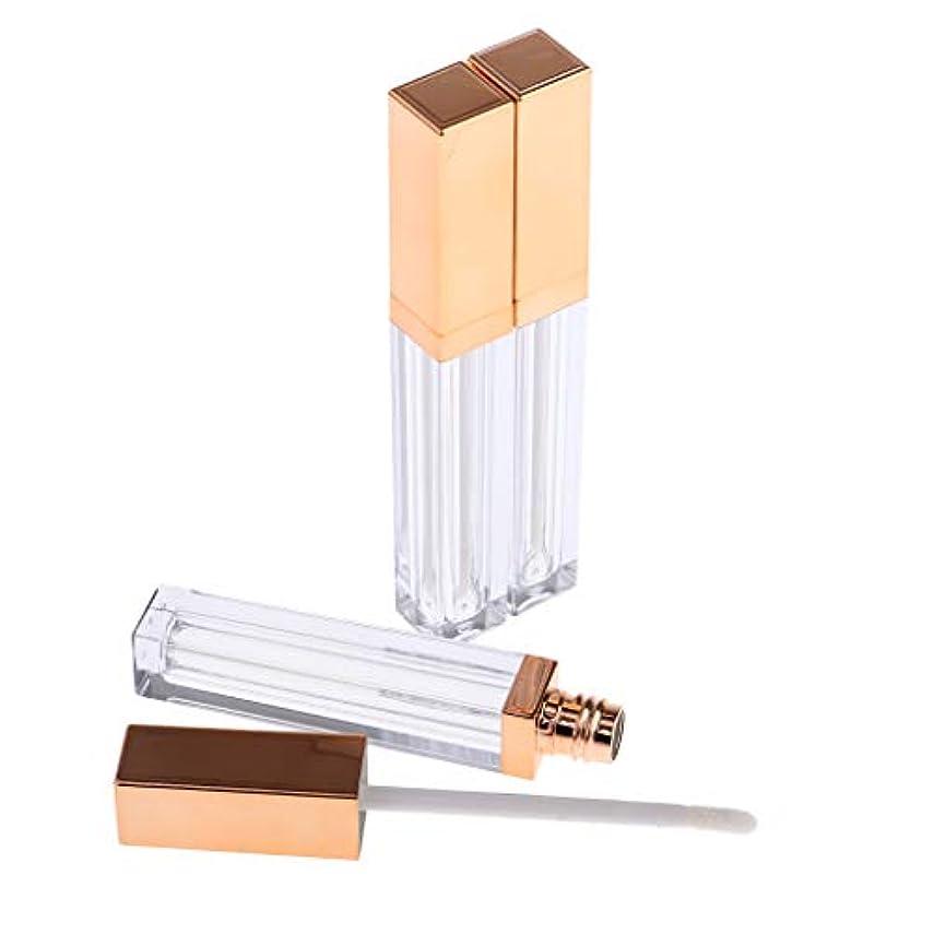 アスリートどっちでもキュービックCUTICATE 詰替え容器 リップグロスチューブ 空 リップグロス管 全3色 - ブロンズゴールデン