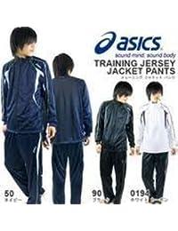 (アシックス) asics メンズ トレーニングジャケット EZT106-90 L 黒/薄灰/金