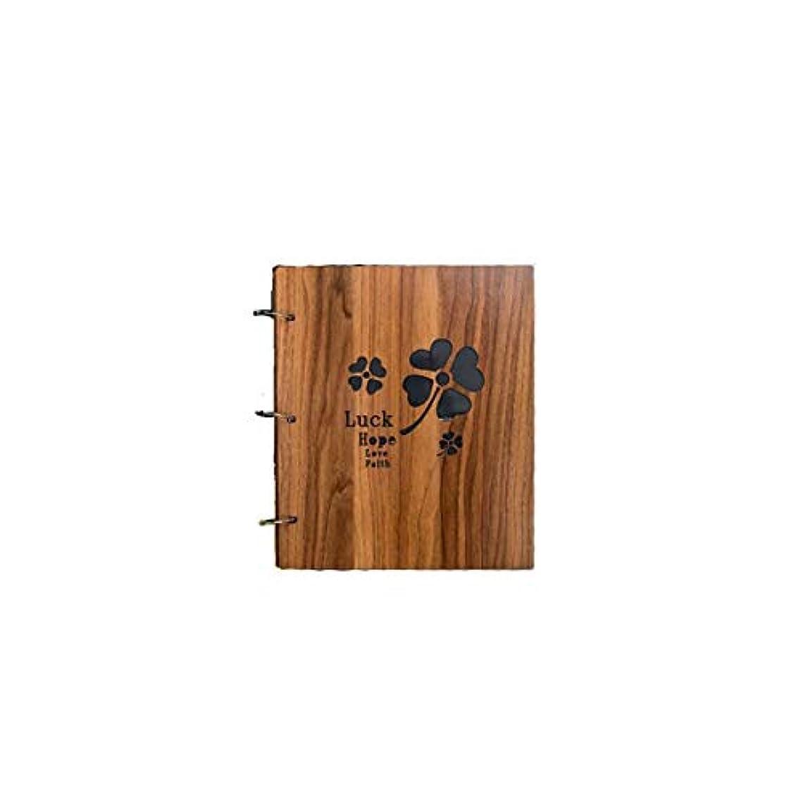 専ら賞賛する損傷RLYBDL 木製の挿入アルバム、5/6/7インチ混合袋、家族のレコードアルバム、赤ちゃんの成長記録アルバム (Color : A)