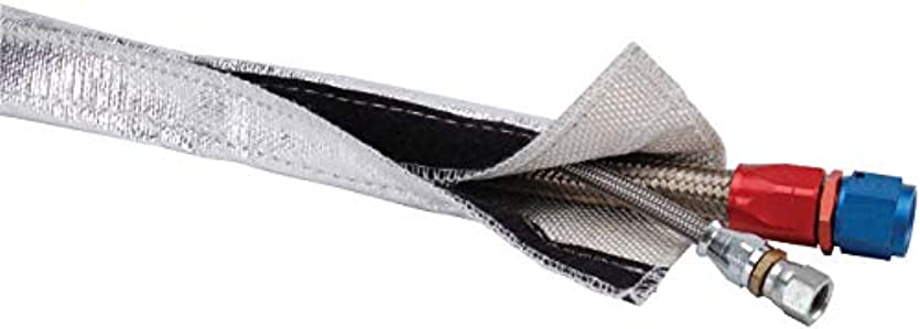 十勝利した不当DEI 010457 Heat Shroud Aluminized Sleeving-Hook & Loop Edge, 0.75 in. x 3 ft.