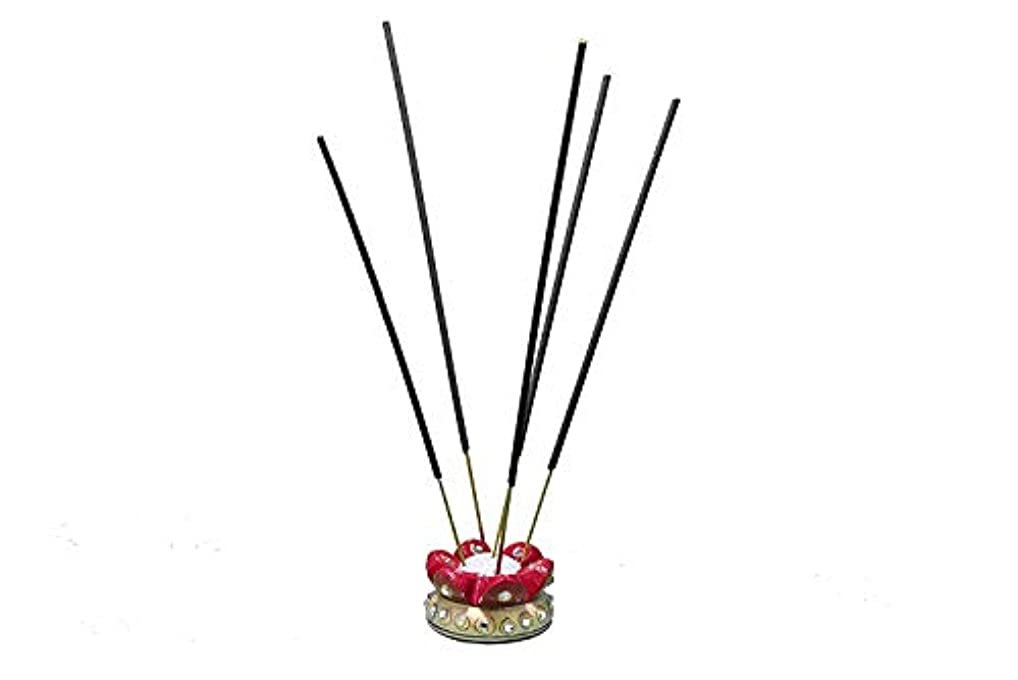 メタン与えるローラーLakshaya Enterprises Kundan Embellished Marble Incense Holder (5 cm x 5 cm x 2.5 cm),Multicolor