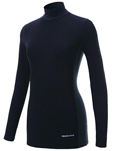 [해외]applerind (아뿌루라인도) 기능성 속옷 넥 기본 모델 여성 JA5434 블랙/applerind (appleledo) functional inner high neck basic model ladies JA 5434 black