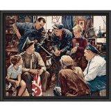 格子柄createsペイントby Numberキット( 16by 20インチ、21797The Saturday Evening Post Homecoming Marineアート
