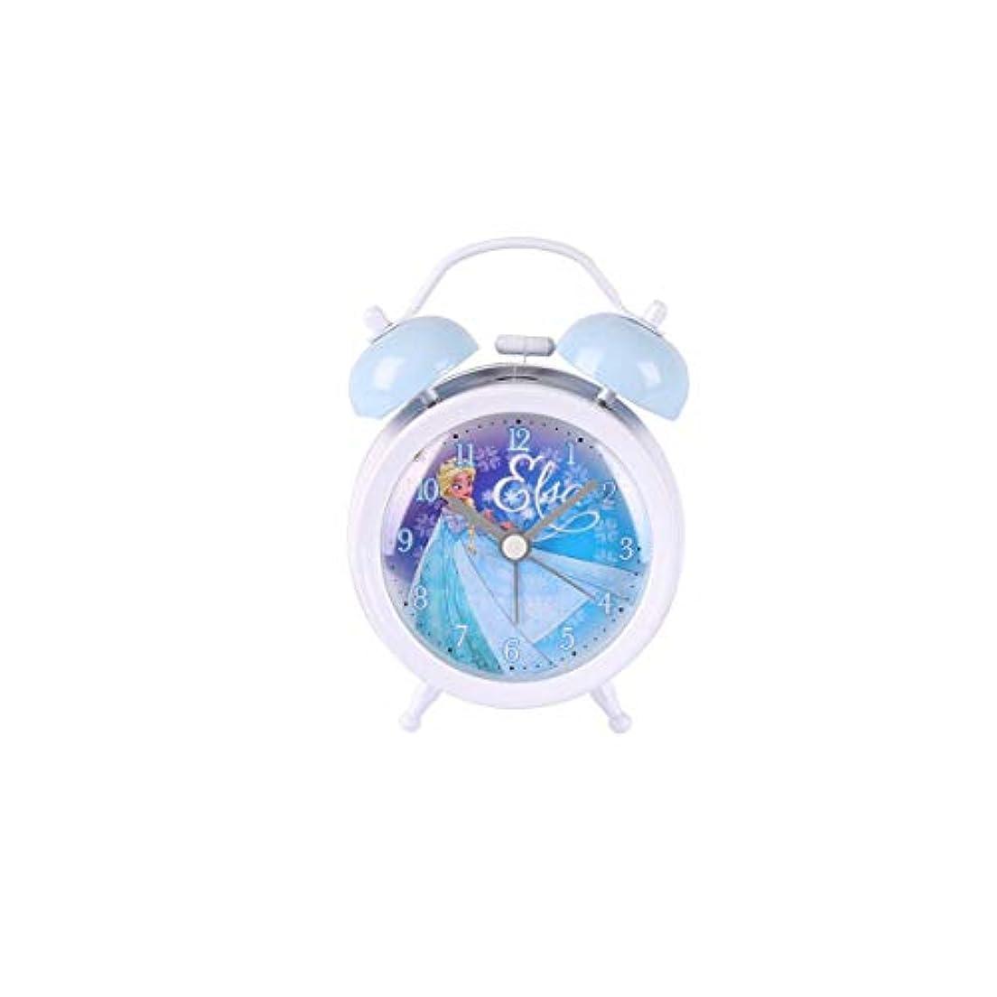 データについてフロントQiyuezhuangshi001 目覚まし時計、学生の枕元の時計、夜の怠惰な時計、寝室のベッドブルーに適した素敵なクォーツ時計、8.8CM×4.5CM×12.5CM 材料の安全性 (Color : White2)