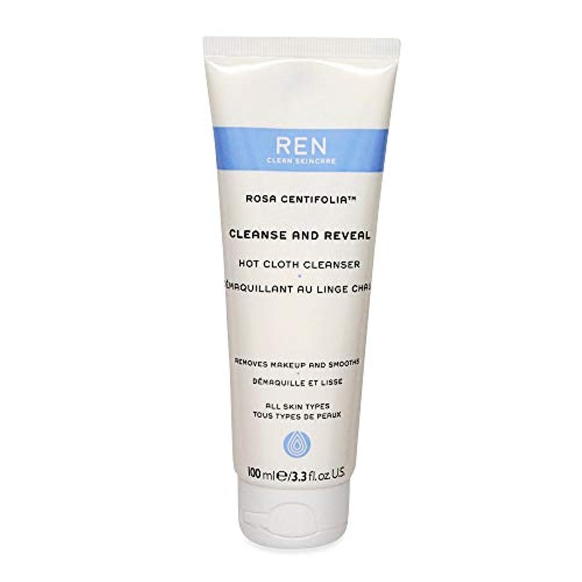 レン Rosa Centifolia Cleanse & Reveal Hot Cloth Cleanser 100ml/3.3oz並行輸入品
