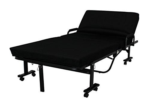 アイリスオーヤマ 折りたたみベッド ハイタイプ 完成品 ブラック OTB-KRH