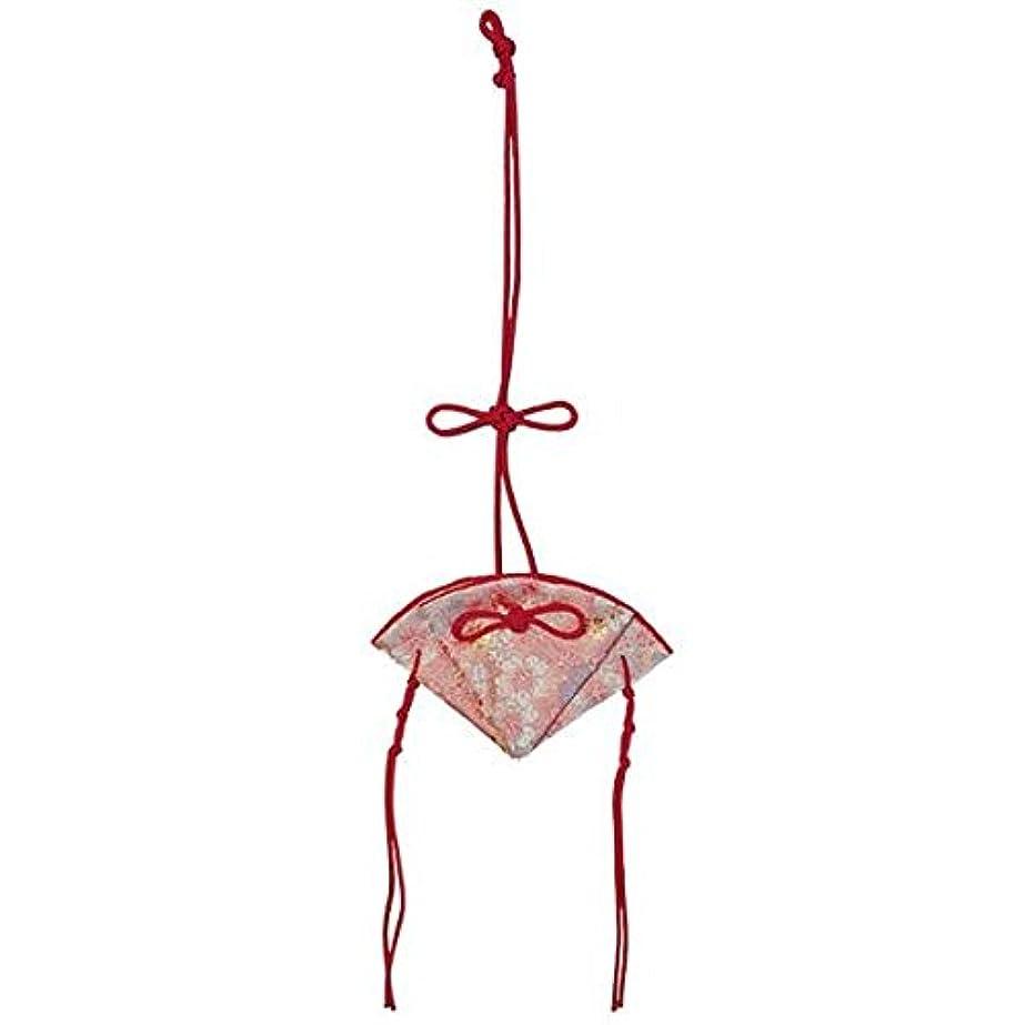 本会議抽象経由で掛香 扇 桜 ピンク(赤紐)