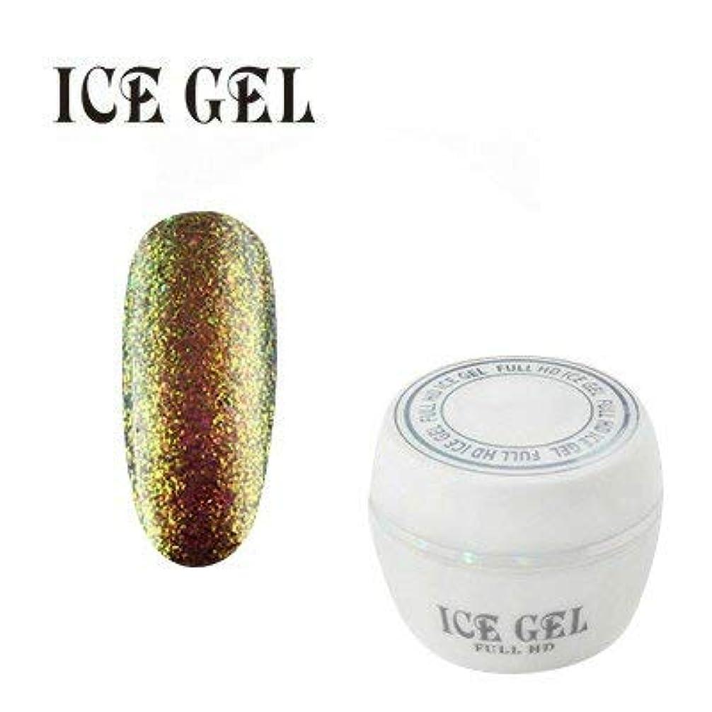 フォーマット可愛いどちらかアイスジェル カラージェル PM-542 グリーンゴールド&レッド 3g