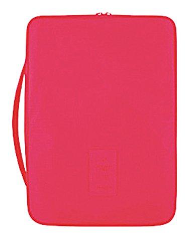 [FREESE] ビジネスマンの トラベル ワイシャツケース Yシャツ ネクタイ収納 バッグ 出張 海外旅行 便利グッズ(ピンク)
