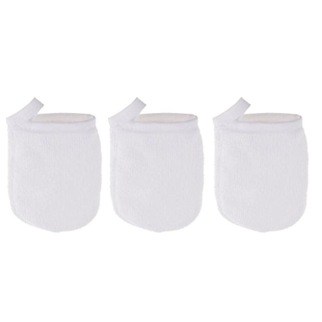 スノーケルライン国旗Perfk 3個 クレンジンググローブ 手袋 洗顔グローブ 肌に気持ちいい フェイシャル 美容 ソフト マイクロファイバー グローブ メイクリムーバークロス 再使用可能