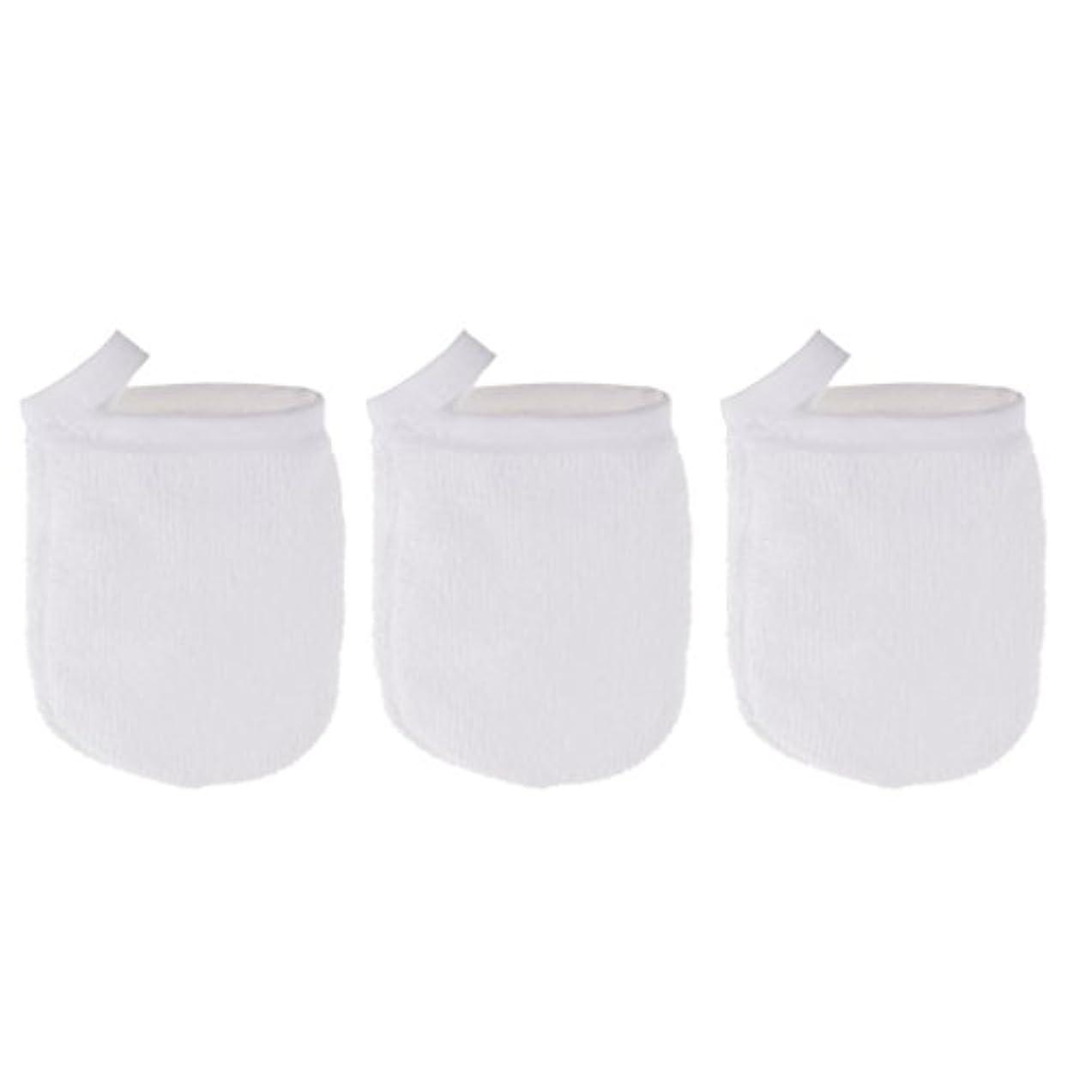 バング自分サワーPerfk 3個 クレンジンググローブ 手袋 洗顔グローブ 肌に気持ちいい フェイシャル 美容 ソフト マイクロファイバー グローブ メイクリムーバークロス 再使用可能