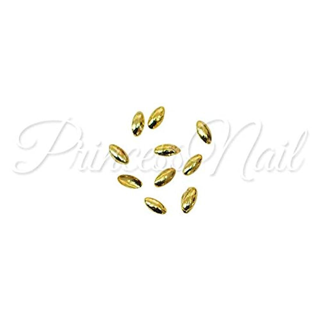 農業疾患風邪をひく超小粒メタルスタッズ リーフ 1mm×2mm ゴールド 50粒