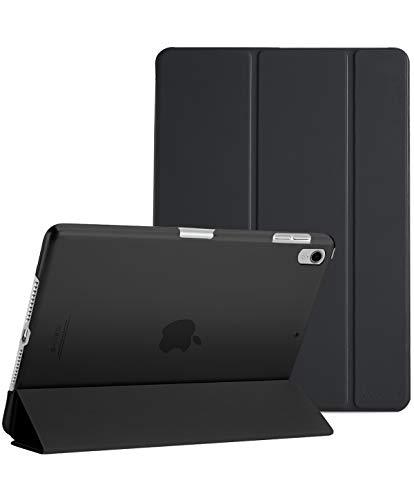 ProCase iPad Pro 11 2018 ケース 超薄型 軽量 スタンド機能 スマートケース 半透明の背面カバー Apple iPad Pro 11インチ(2018発売)に対応 自動スリープ/ウェイクアップ機能付き -ブラック
