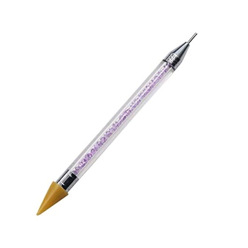 グリーンバック調べる貸し手ネイルペン DIY デュアルエンド 絵画ツール ペン ネイル筆 ネイルアートペン ネイルアートブラシ マニキュアツールキット ネイルツール ネイル用品 ラインストーンピッカー点在ペン マニキュアネイルアート DIY 装飾ツール