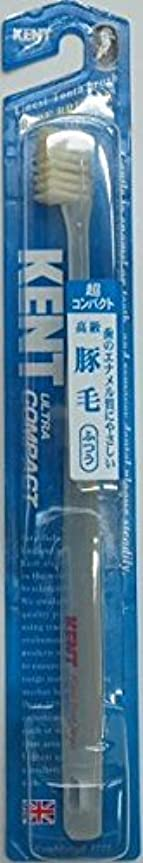 平衡移動する武器KENT(ケント)豚毛歯ブラシ ふつう 超コンパクト