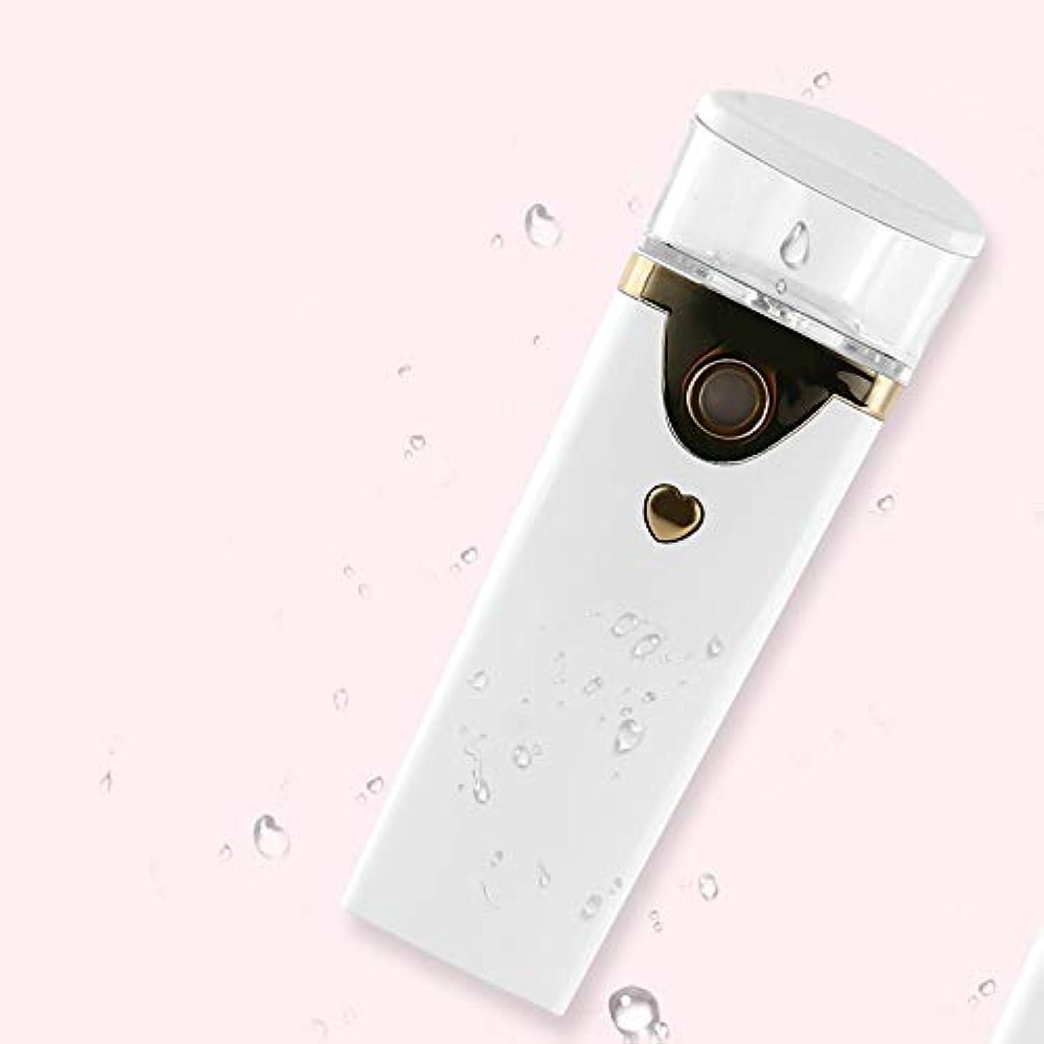 コーンウォール呼び起こす現実的ZXF ハンドヘルドポータブルかわいいナノ水道メーターABS材料スチームフェイス水分補給美容器具噴霧器ホワイト 滑らかである