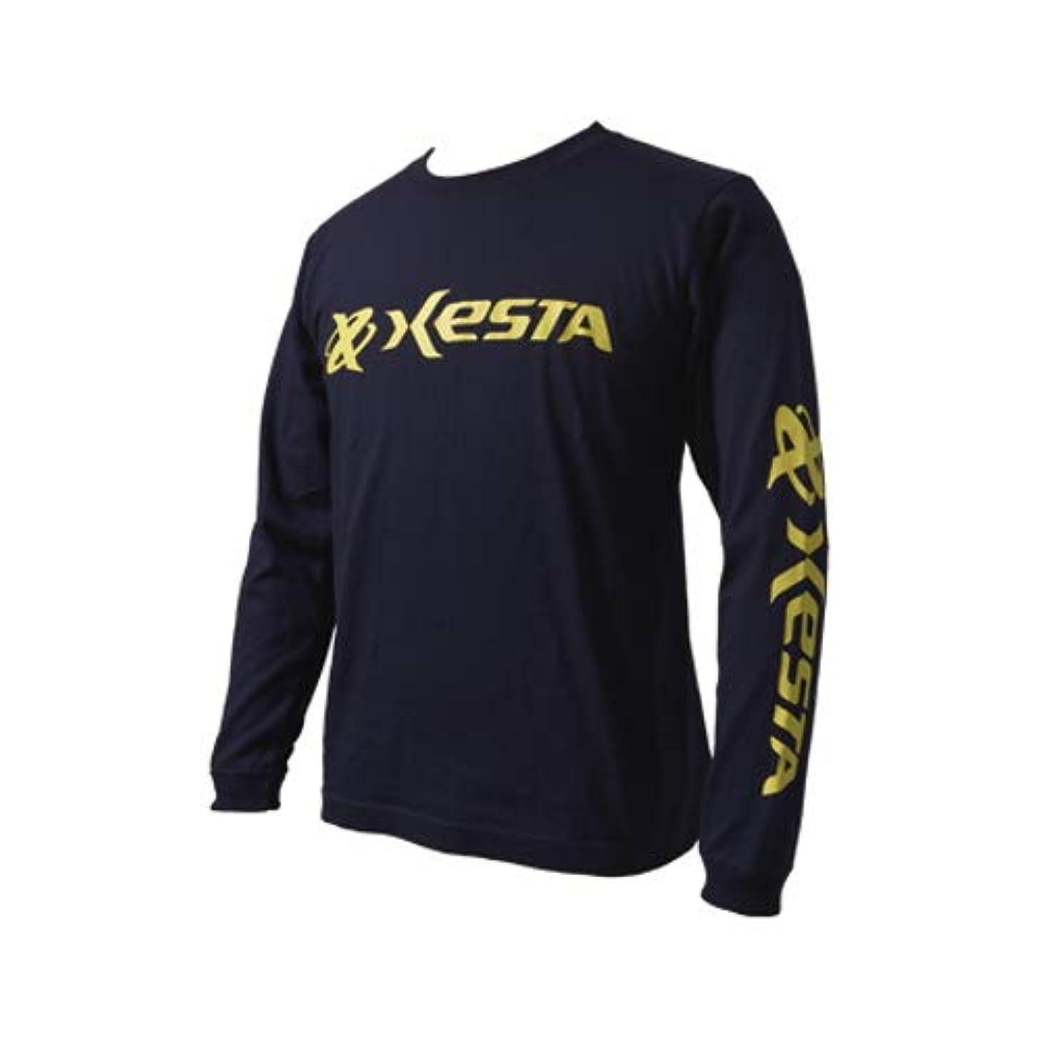 スケルトン延ばすホステルゼスタ(XESTA) ロングスリーブT-シャツ(オリジナルロゴ) XXL ネイビー