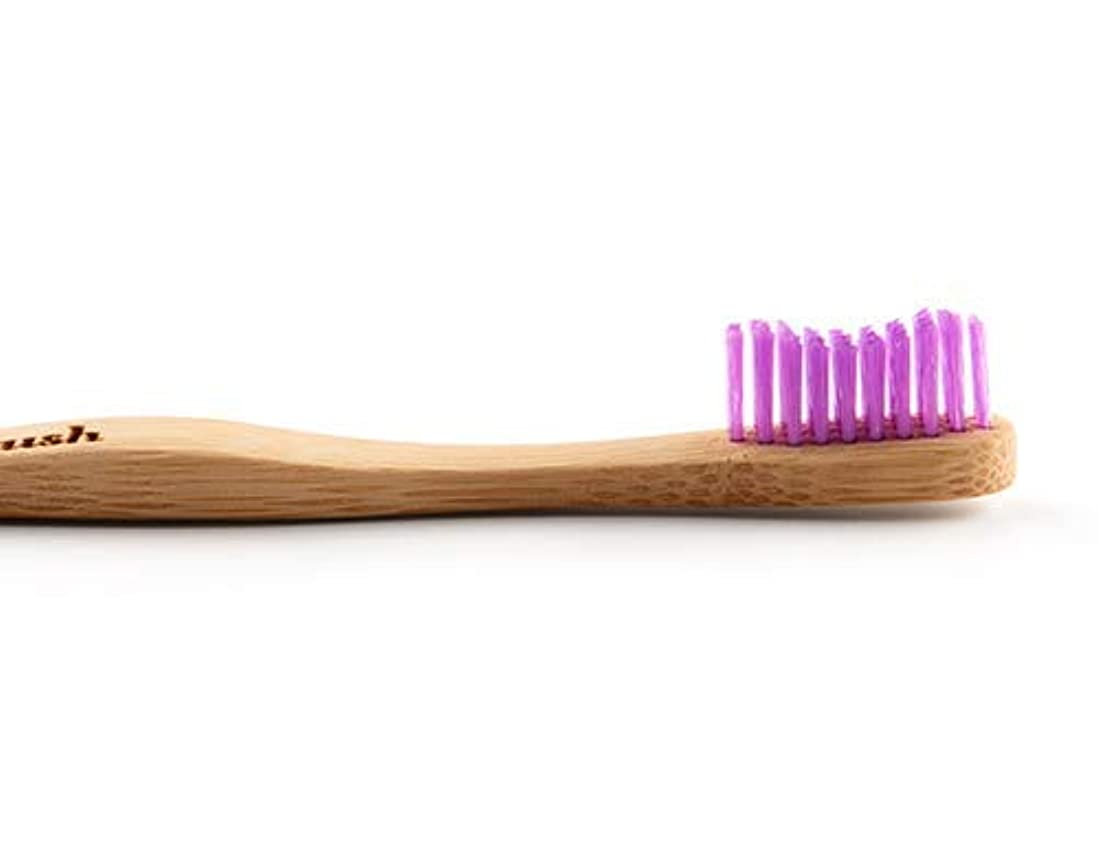 姉妹修羅場大惨事Humble Brush Single Medium Bristle Purple Adults Tooth Brush by Humble Brush