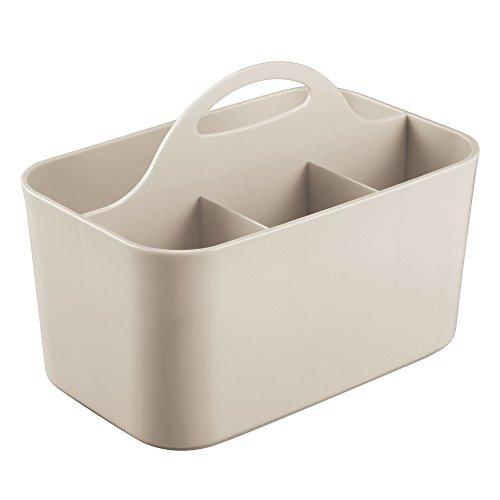 RoomClip商品情報 - InterDesign シャワー 風呂 小物 収納 ボックス 仕切り 持ち手付き Clarity トープ 40973EJ